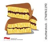 delicious sweet martabak...   Shutterstock .eps vector #1746961190