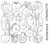 cute hand drawn black outline... | Shutterstock .eps vector #1746963779