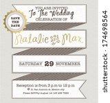 wedding invitation card... | Shutterstock .eps vector #174698564