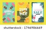 summer sale background layout... | Shutterstock .eps vector #1746986669