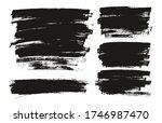flat paint brush thin full... | Shutterstock .eps vector #1746987470