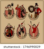 circus stars collection. circus.... | Shutterstock . vector #1746990029