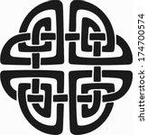 celtic ornament  | Shutterstock .eps vector #174700574