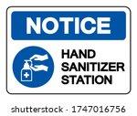 hand sanitizer station symbol... | Shutterstock .eps vector #1747016756