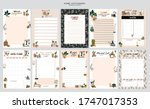 collection of weekly or daily... | Shutterstock .eps vector #1747017353