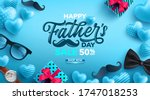 father's day sale poster with... | Shutterstock .eps vector #1747018253