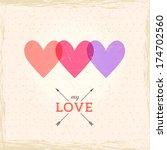 happy valentine's day card.... | Shutterstock .eps vector #174702560