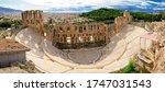 the odeon of herodes atticus ... | Shutterstock . vector #1747031543
