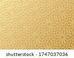 islam pattern. gold ottoman... | Shutterstock .eps vector #1747037036
