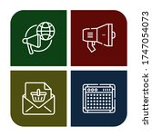 set of announce icons. such as... | Shutterstock .eps vector #1747054073