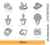 set of busines outline web icons