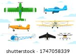 agricultural aviation. crop... | Shutterstock .eps vector #1747058339