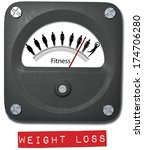 fat to fit meter measure before ... | Shutterstock . vector #174706280
