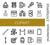 clipart simple icons set....