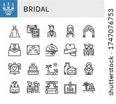 bridal icon set. collection of... | Shutterstock .eps vector #1747076753