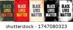 black lives matter lettering... | Shutterstock .eps vector #1747080323