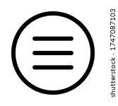 menu icon vector sign symbol ...