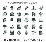 Environment Icon Set. 30 Fille...