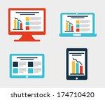 infographics design over white  ... | Shutterstock .eps vector #174710420