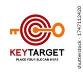 key target vector logo template.... | Shutterstock .eps vector #1747112420