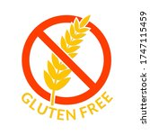 gluten fee icon. healthy food... | Shutterstock .eps vector #1747115459