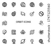 Editable 22 Orbit Icons For We...