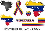 Venezuela Icons. Set of vector graphic images and symbols representing Venezuela.