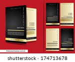 professional business card set | Shutterstock .eps vector #174713678