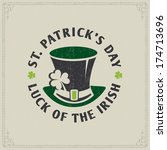 st. patrick's day card   vector ... | Shutterstock .eps vector #174713696