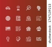 editable 16 land icons for web... | Shutterstock .eps vector #1747139213
