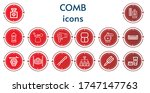 editable 14 comb icons for web... | Shutterstock .eps vector #1747147763