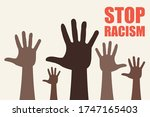 stop racism icon. black lives...   Shutterstock .eps vector #1747165403