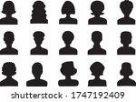 vector set of different female... | Shutterstock .eps vector #1747192409