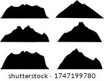 mountains silhouette on a white ... | Shutterstock .eps vector #1747199780