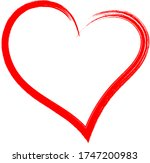 red heart   doodle style... | Shutterstock .eps vector #1747200983