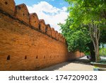 The Old Brown Brick Wall At Th...