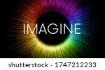 Imagine Word Written On Black...