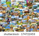 collection images used as a... | Shutterstock . vector #174722453