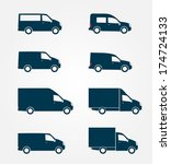 commercial truck icon  | Shutterstock .eps vector #174724133