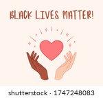 black lives matter. hands... | Shutterstock .eps vector #1747248083