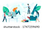 human laboratory medical... | Shutterstock . vector #1747259690