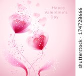 vector valentine background... | Shutterstock .eps vector #174728666