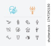 diseases icons set. muscle pain ... | Shutterstock .eps vector #1747292150