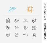 beautiful icons set. beard and...