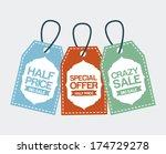 shopping design over white ... | Shutterstock .eps vector #174729278