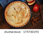 Freshly Baked Apple Pie With...