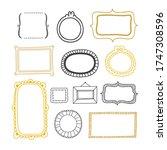 vector frame collection. cute... | Shutterstock .eps vector #1747308596