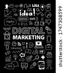 digital marketing vector icon... | Shutterstock .eps vector #1747308599