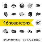 us food icons set with south...