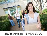 college  move in day for new...   Shutterstock . vector #174731720